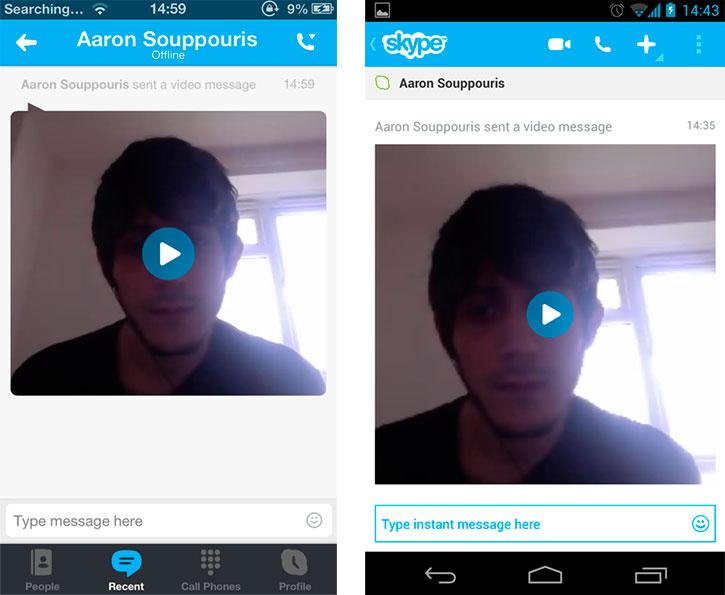 Skype тестирует видео-sms для iOS, Mac и Android, но не Windows