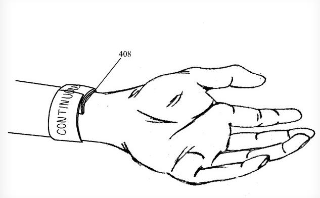 Патент Apple на устройство вроде iWatch с гибким тачскрин-дисплеем