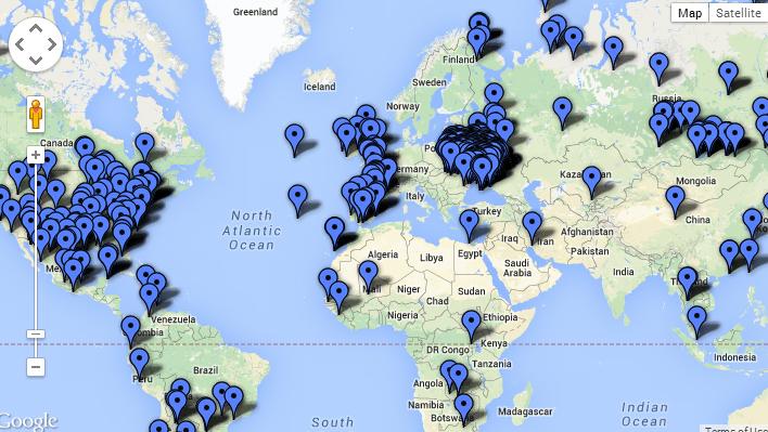 Страны, в которых пользователи искали провайдеров