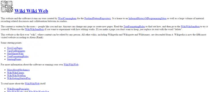 Wiki Wiki Web все еще тут