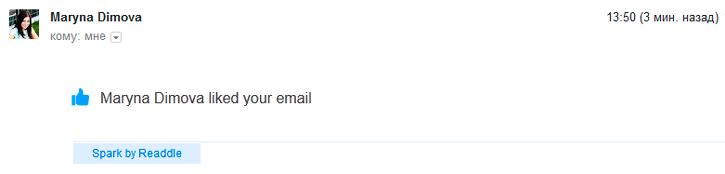 А еще в Spark можно лайкать, делиться и комментировать электронные письма!