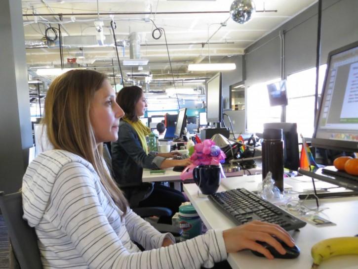 Сотрудники Glassdoor  в калифорнийском офисе