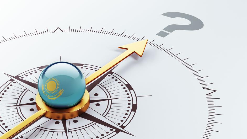 Kazakhstan Question Mark Concept