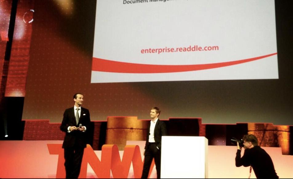 Игорь выступает с докладом про PDF Expert Enterprise на Next Web Conference, 2013 год