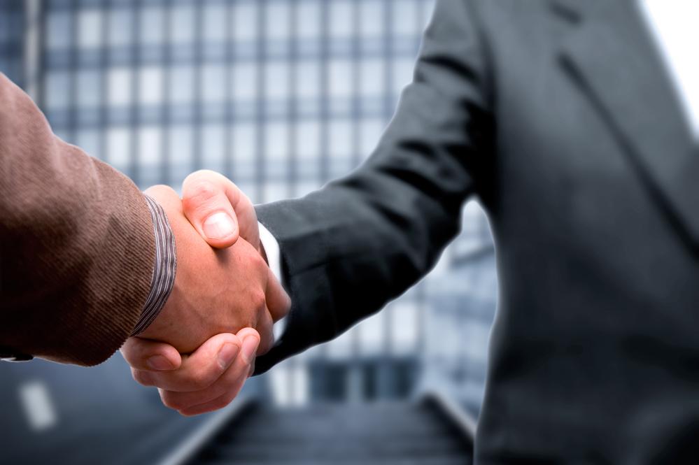 Handshake business concept