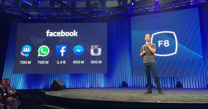 Марк Цукерберг в ходе выступления на прошлогодней конференции F8