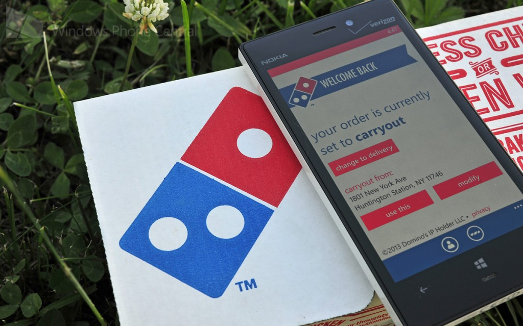 Dominos Pizza for Windows Phone 8