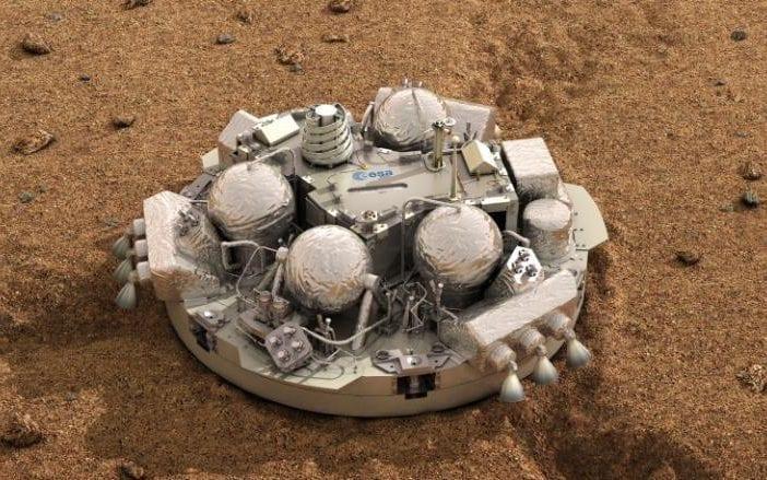 """Скиапарелли"" на поверхности Марса. Изображение: ЕКА"