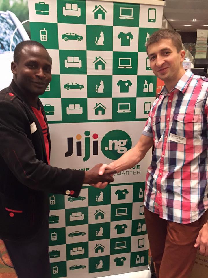 На крупнейшей в Лагосе ecommerce-конференции с одним из наших самых первых платящих клиентов: компании по продаже б/у мобильных телефонов
